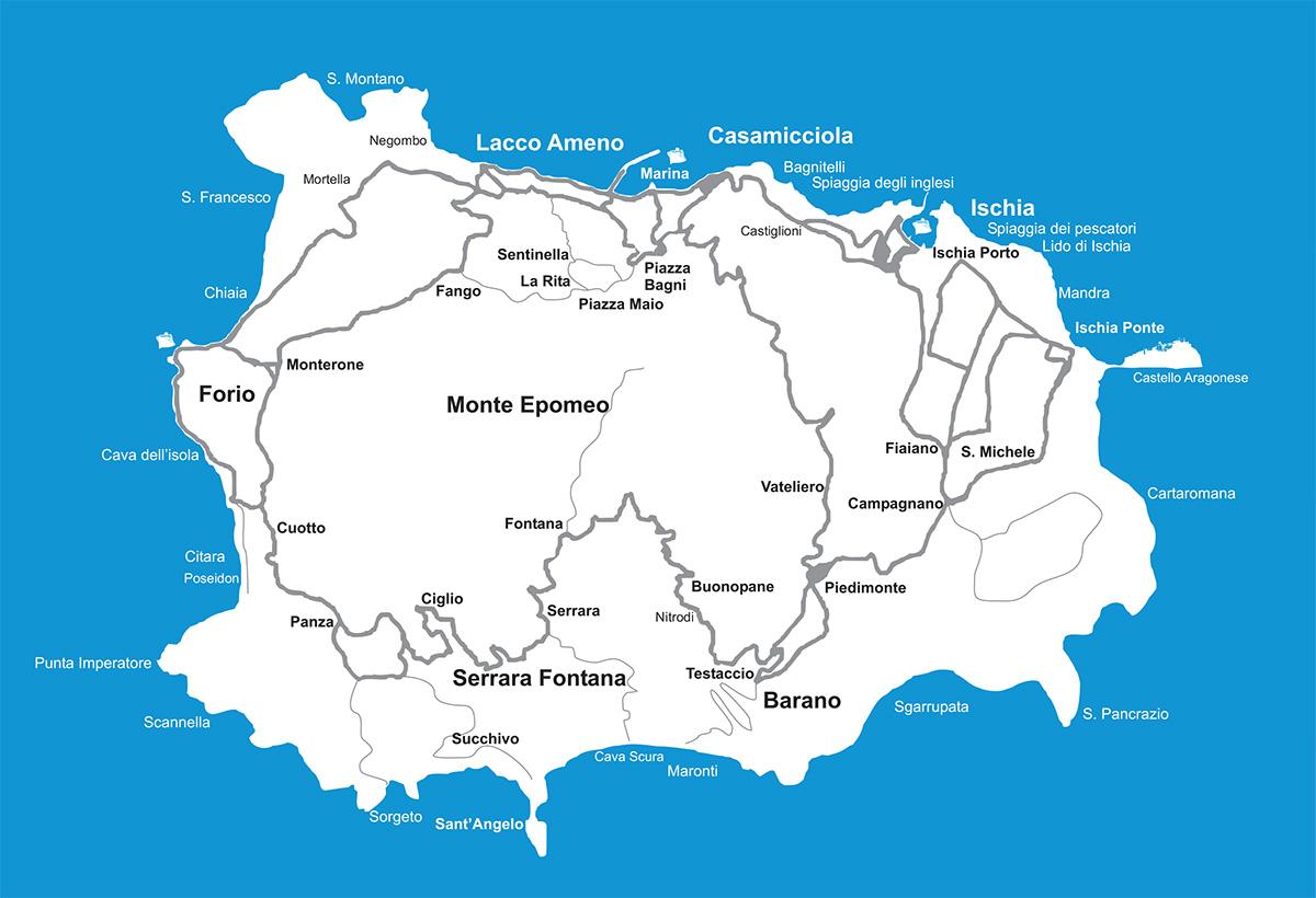 Ischia Cartina Turistica.Sant Angelo D Ischia L Isola D Ischia
